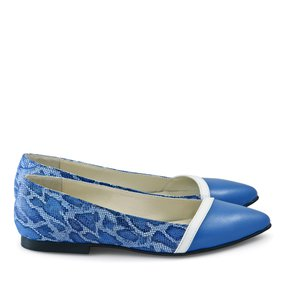 Balerini cu imprimeu sarpe Baby Blue