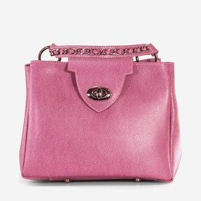 Geanta din piele naturala roz ciclame Pandora