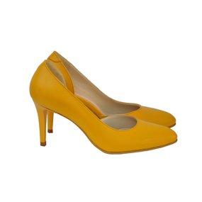 Pantofi din piele naturala galben Sunflower