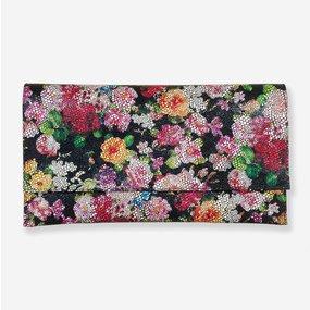 Plic din piele naturala cu imprimeu cu flori
