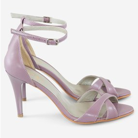 Sandale din piele naturala Liliac