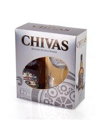 Whisky Chivas Regal 12 ani, set cadou 2 pahare.