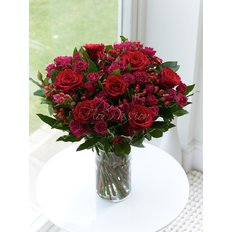 Bouquet con Rose e Bacche