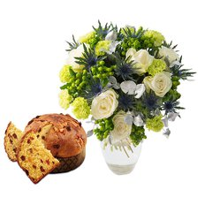 Bouquet Green Christmas e Panettone