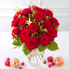 Christmas Red Rose Large