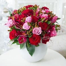 Red & Pink  Velvet