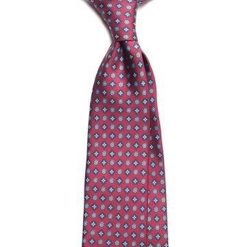 Floral silk tie - burgundy