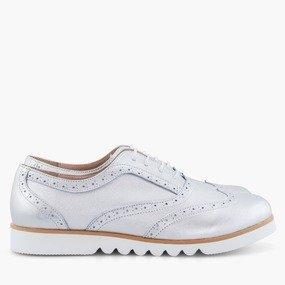 Pantofi oxford argintii Bristol