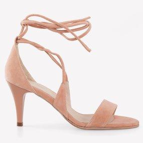 Sandale roz pudra din piele naturala Monroe