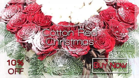Cotton Red Christmas FlorPassion