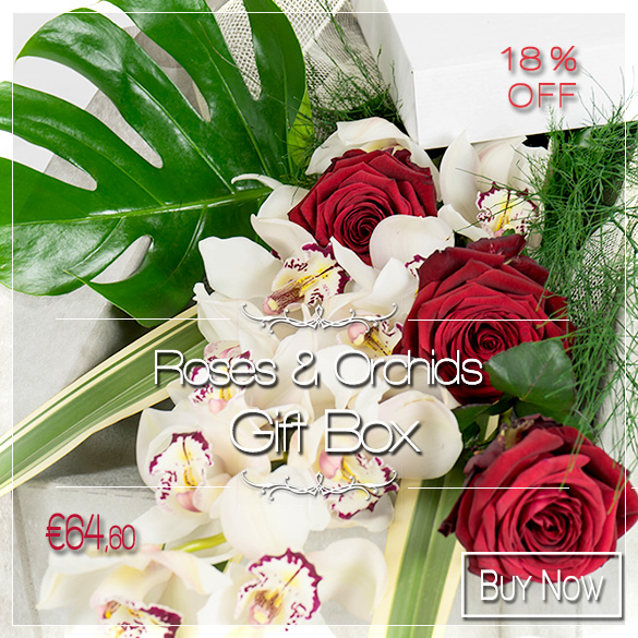 Roses & Orchid Box