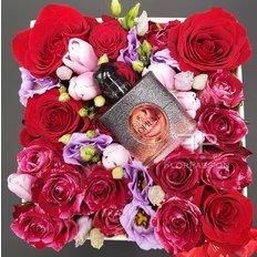 Black Opium Perfume in a Luxury Flower Box   Send Flowers to Milan