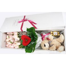 FlorPassion Luxury Gift Box | Roses Teddy Chocolate