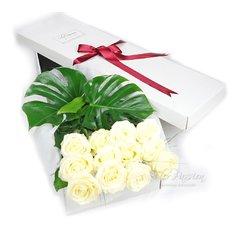 Dodici Rose Bianche Gift Box