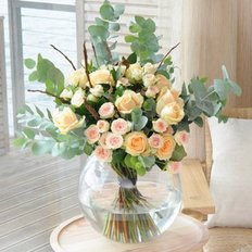 Garden Peach Roses