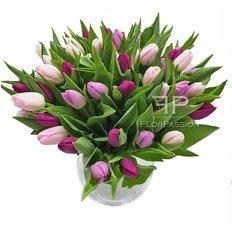Bouquet Tulipani Rosa Fucsia Viola   Fiorista a Domicilio Milano
