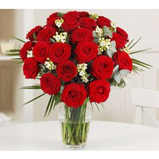 Red roses and Ornithogallum