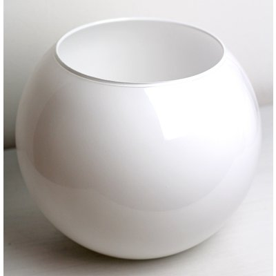 Vaso Bianco Sferico